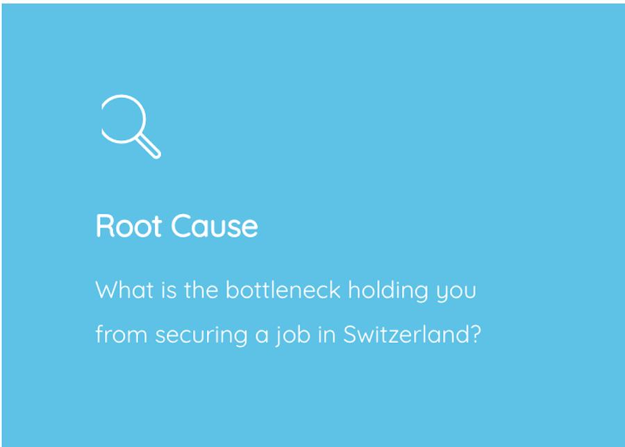 Root cause analysis job search Switzerland